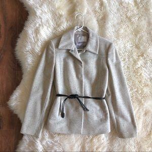 Iceberg Gray Lana Wool Belted 5K Jacket